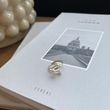 three pearl ring [ACC21SS653]