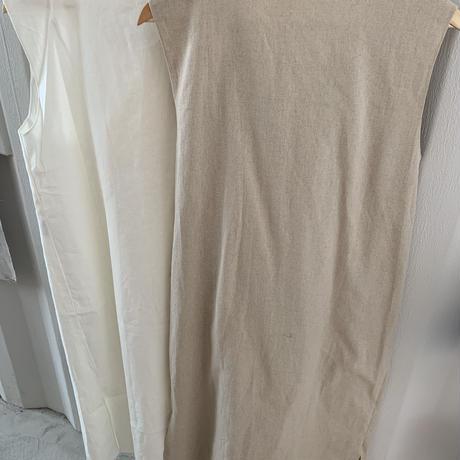 buckle design linen tie one-piece (2color/2type)[OP20SS382]