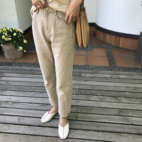 beige color denim pants