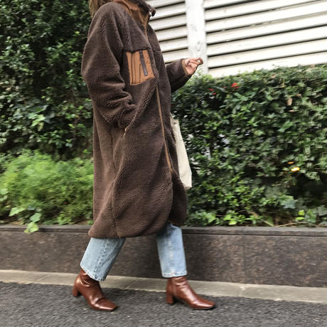 reversible boa coat (2color)