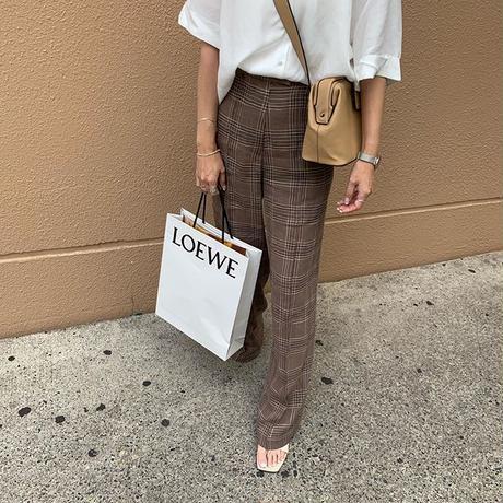 linen check pants