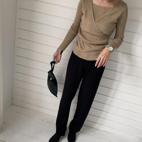 rib knit ensemble  [TOP19AW0120]