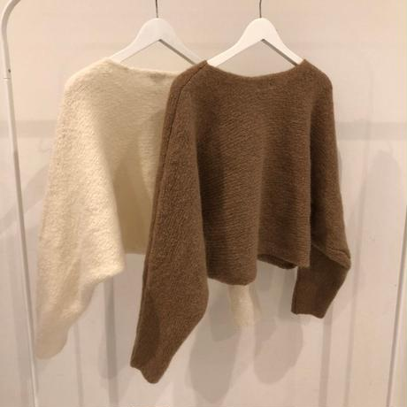 mohair knit set up (2color)