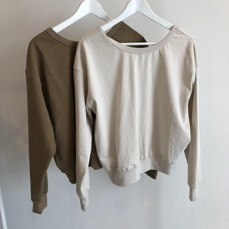 back open pullover (2color)