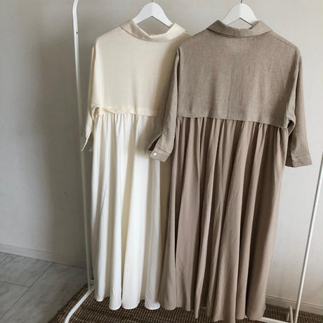 chiffon switching onepiece (2color)
