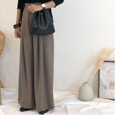 high waist wide pants (2color)