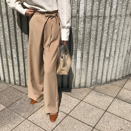 side ribbon pants