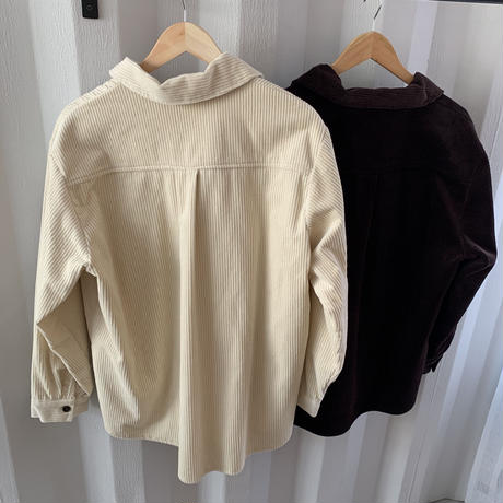 over size corduroy shirt (2color)  [TOP19AW0149]