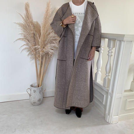 mohair touch long poncho coat (2color)[OU20AW444]