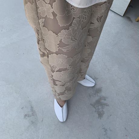 organdy flower lace  slacks pants [21SS-FL-01]
