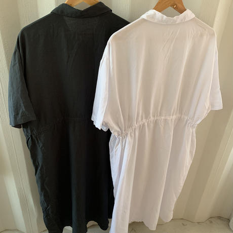 waist gather shirt one-piece (2color)[OP20AW456]