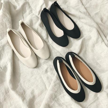 knit flat shoes (3color)
