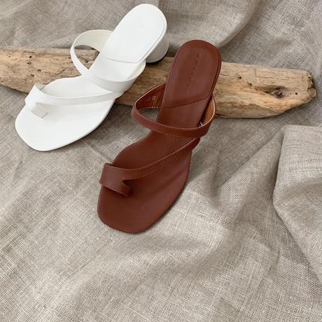 sumring strap sandal (2color)