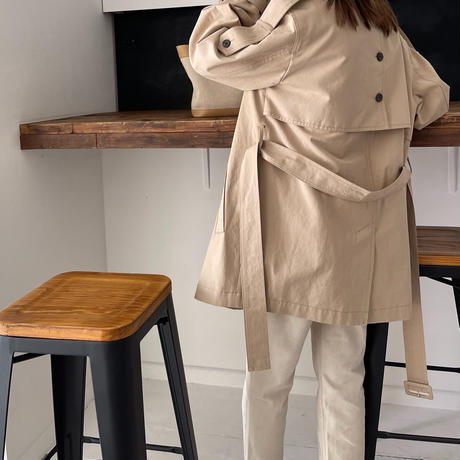 back button short trench jacket[OU21SS628]