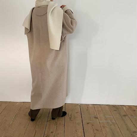 muffler set long coat (2color) [OU19AW0091]