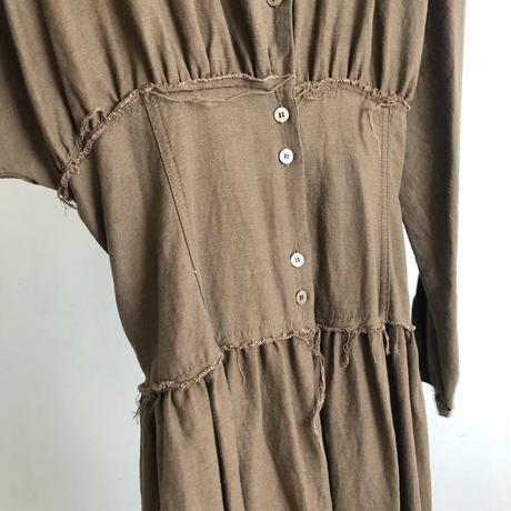 vintage like corset  onepiece [OP18SS-0044]
