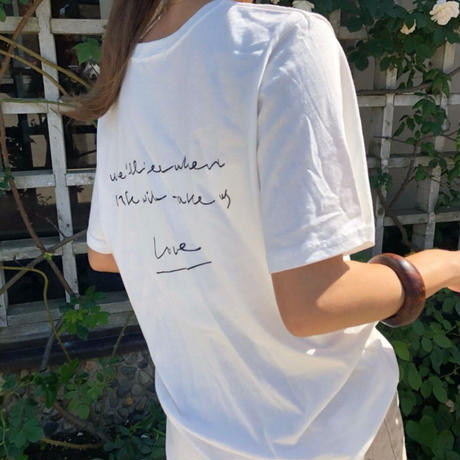 back print message t-shirt