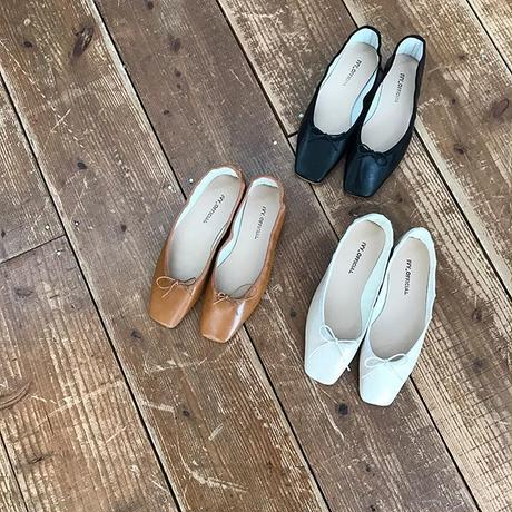 sukueatou soft flat shoes (3color)
