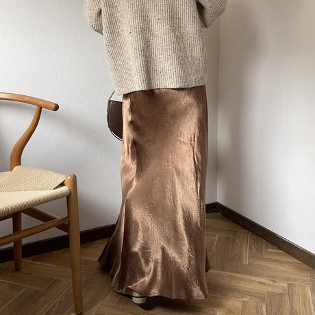 satin maxi skirt (3color)[BT20AW580]