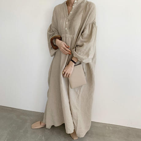 dress shirt linen one-piece (2color) [OP20SS305]