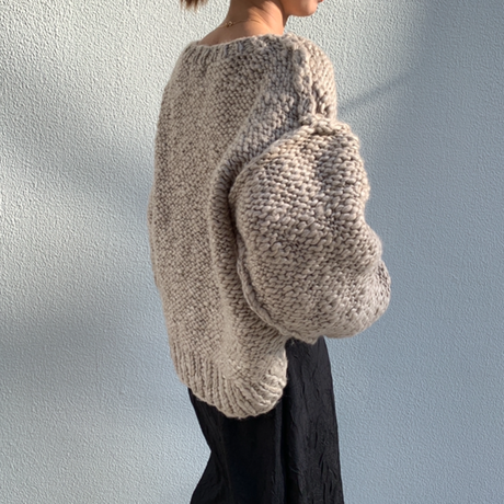handmade volume knit[TOP20AW538]