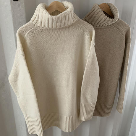 volume turtle knit  (2color) [TOP19AW0184]