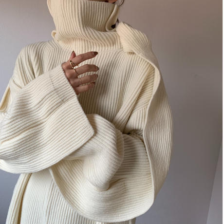 deformation high neck knit (2color)[TOP20AW581]