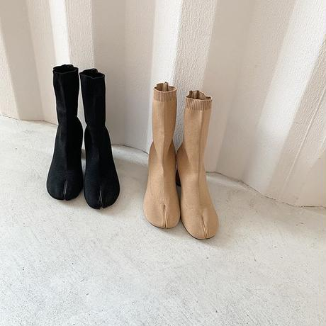 Tabi socks knit boots (2color) [SH19AW0108]