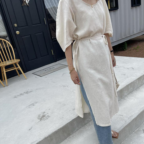 volume sleeve slit one-piece (2color)[OP21SS719]