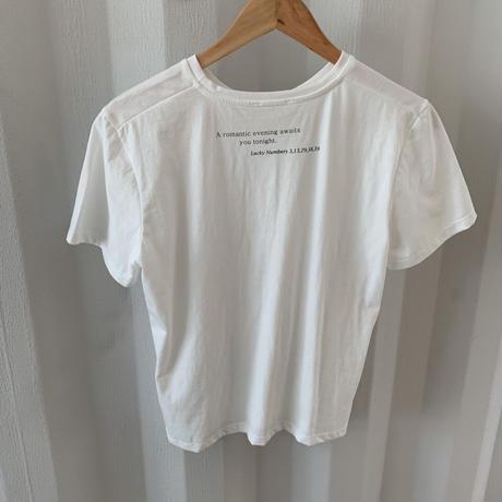 back message t-shirt  [TOP20SS317]