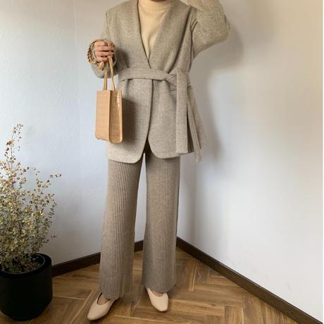 knit rib pants  [BT20AW247]