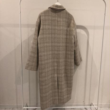 soft check long coat