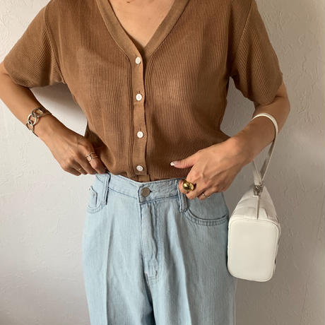summer knit cardigan (2color)[TOP20SS430]