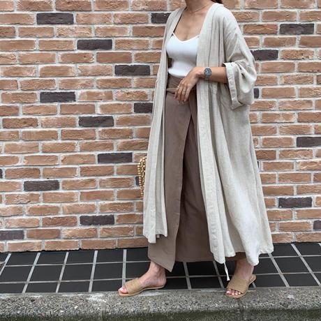 straight linen rap skirt  [SK18SS-0046]
