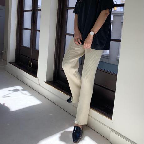 knit rib pants [BT20AW460]