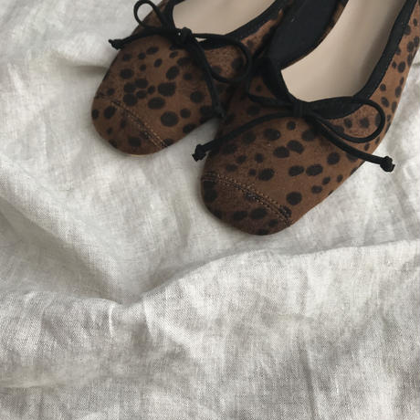 squaretoe leopard flat shoes