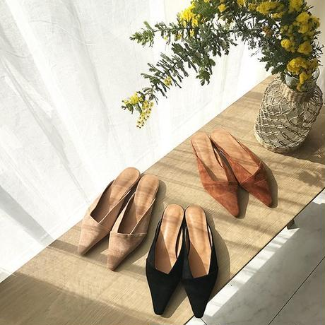 fake suede leather shoes (3color)