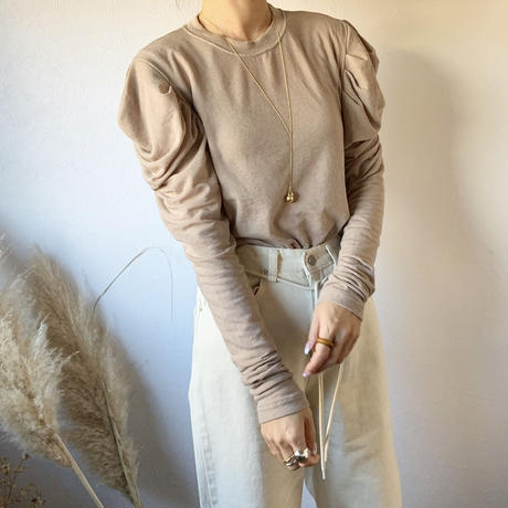 shoulder design knit saw (3color)[TOP20AW568]