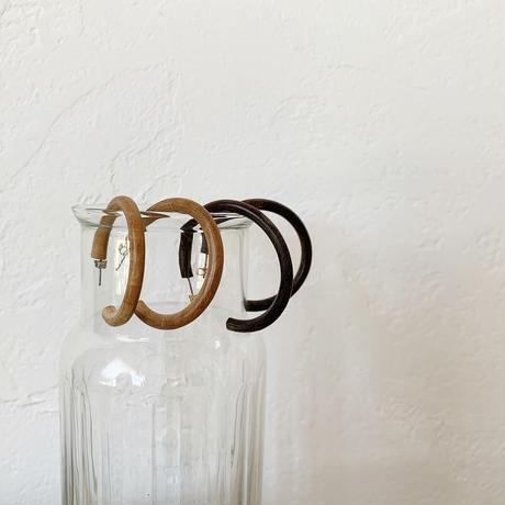 wood hoop pierce (2color)