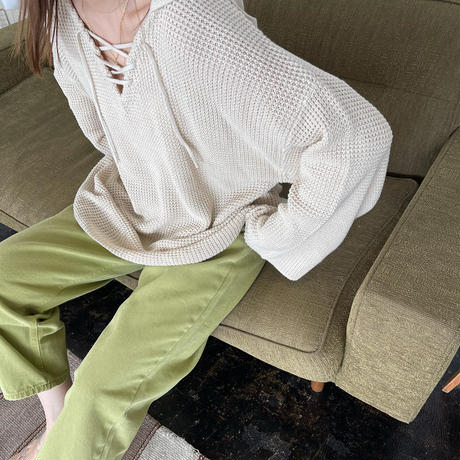 laceup foodie knit (3color) [21SS-FL-07]