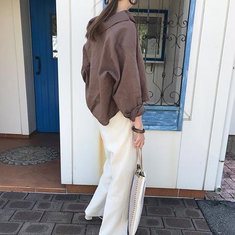 linen short shirt (2color)