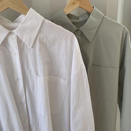 unisex over size shirt (2color)  [TOP20SS326]