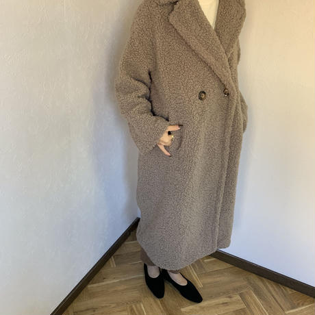 poodle coat (2color) [OU19AW0179]