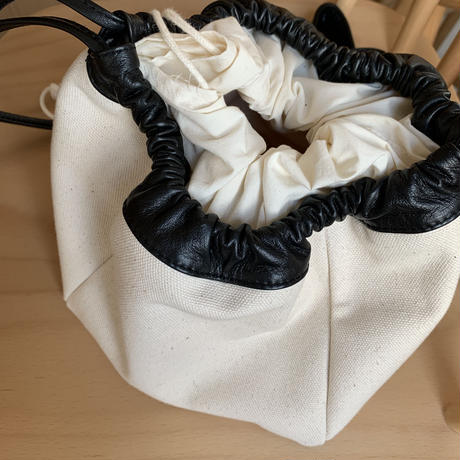real leather bi-color canvas bag  [BAG20AW244]