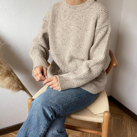 mix knit tops (2color)[TOP20AW587]