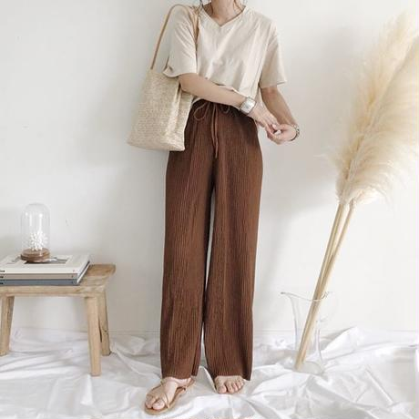 straight rib pants (2color)