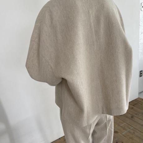nocollar jacket ◇setup可[OU21SS637]