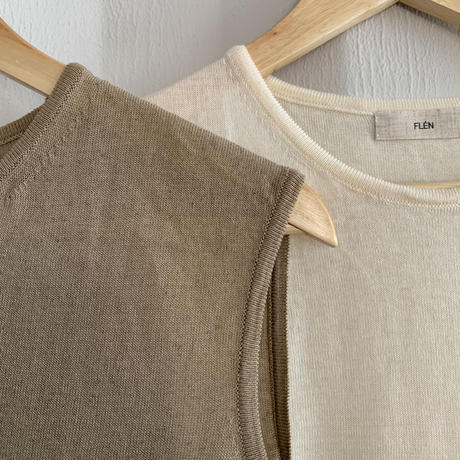knit nosleeve (2color)[TOP20SS439]