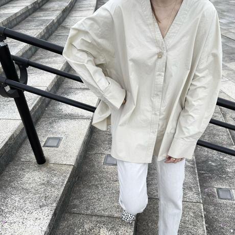 nocollar shirt (2color) [TOP21SS656]