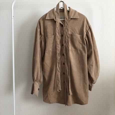 balloon sleeve  corduroy shirt